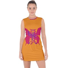 Butterfly Wings Insect Nature Lace Up Front Bodycon Dress