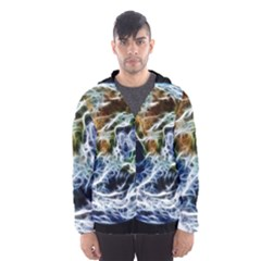 Spherical Science Fractal Planet Hooded Windbreaker (men) by Nexatart