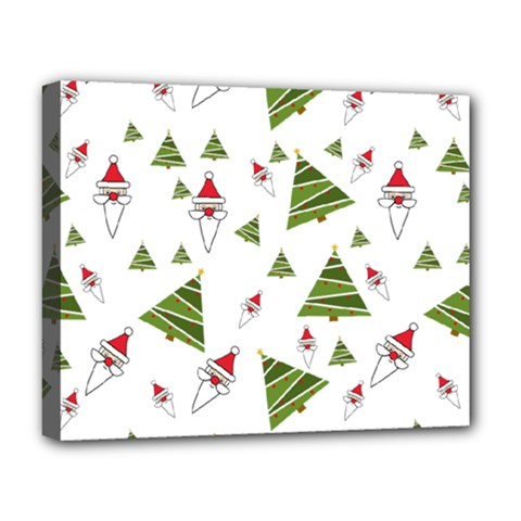 Christmas Santa Claus Decoration Deluxe Canvas 20  X 16  (stretched) by Nexatart