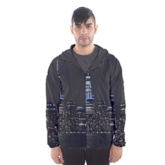 New York Skyline New York City Hooded Windbreaker (men) by Nexatart