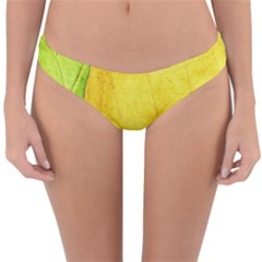 Green Yellow Leaf Texture Leaves Reversible Hipster Bikini Bottoms by Alisyart