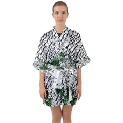Montains Hills Green Forests Quarter Sleeve Kimono Robe by Alisyart