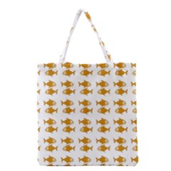 Small Fish Water Orange Grocery Tote Bag