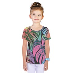 Leaves Tropical Jungle Pattern Kids  One Piece Tee