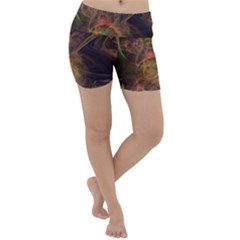 Abstract Colorful Art Design Lightweight Velour Yoga Shorts