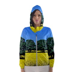 Tree In Field Hooded Windbreaker (women) by Alisyart