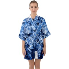 Cold Ice Quarter Sleeve Kimono Robe by FunnyCow