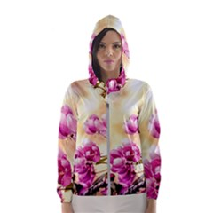 Paradise Apple Blossoms Hooded Windbreaker (women) by FunnyCow