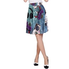 Astronaut Space Galaxy A-line Skirt by snowwhitegirl