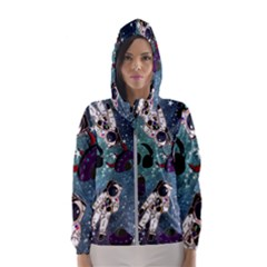Astronaut Space Galaxy Hooded Windbreaker (women) by snowwhitegirl