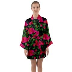 Roses At Night Long Sleeve Kimono Robe by snowwhitegirl