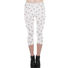 Officially Sexy Os Collection Red & White Capri Leggings  by OfficiallySexy