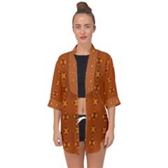 Bold  Geometric Yellow Circles Sm Open Front Chiffon Kimono by BrightVibesDesign