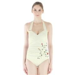 Flower Halter Swimsuit by Teresa20114