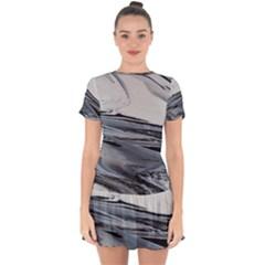 Space Drift Drop Hem Mini Chiffon Dress by WILLBIRDWELL