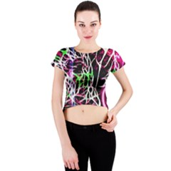 Officially Sexy Panther Collection Pink Crew Neck Crop Top by OfficiallySexy