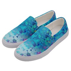 Hearts Colors Men s Canvas Slip Ons by LoolyElzayat
