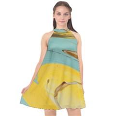 Sun Bubble 2 Halter Neckline Chiffon Dress  by WILLBIRDWELL
