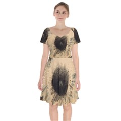 Flower Short Sleeve Bardot Dress by WILLBIRDWELL