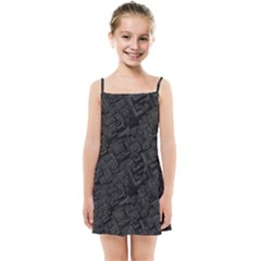 Black Rectangle Wallpaper Grey Kids Summer Sun Dress by Nexatart