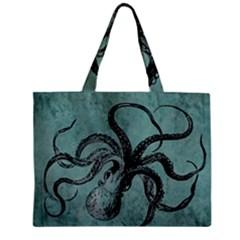 Vintage Octopus  Mini Tote Bag