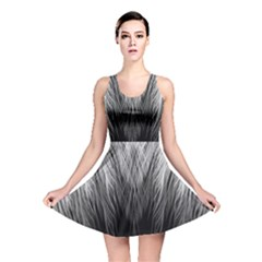 Feather Graphic Design Background Reversible Skater Dress