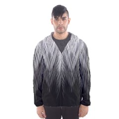 Feather Graphic Design Background Hooded Windbreaker (men) by Nexatart