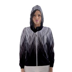 Feather Graphic Design Background Hooded Windbreaker (women) by Nexatart