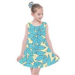 Leaves Dried Leaves Stamping Kids  Summer Dress by Nexatart