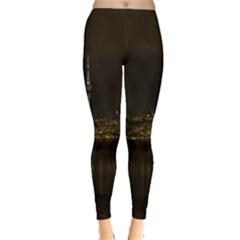 City River Water Cityscape Skyline Leggings