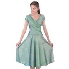 Shockwave Cap Sleeve Wrap Front Dress by WILLBIRDWELL