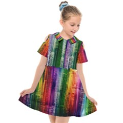 Skyline Light Rays Gloss Upgrade Kids  Short Sleeve Shirt Dress by Nexatart