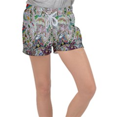 Transparent Volcano Fish Women s Velour Lounge Shorts by chellerayartisans