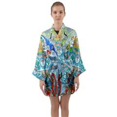 Supersonic Cosmic Submarine Long Sleeve Kimono Robe by chellerayartisans
