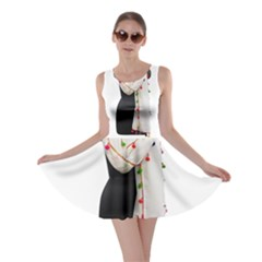 Indiahandycrfats Women Fashion White Dupatta With Multicolour Pompom All Four Sides For Girls/women Skater Dress by Indianhandycrafts