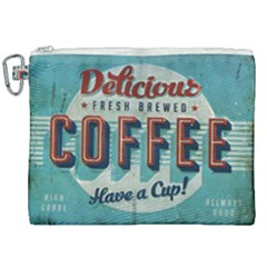 Delicious Coffee Canvas Cosmetic Bag (xxl) by snowwhitegirl