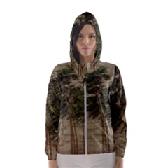 Vintage Bamboo Trees Hooded Windbreaker (women) by snowwhitegirl