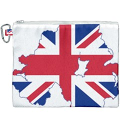 Union Jack Flag Map Of Northern Ireland Canvas Cosmetic Bag (xxxl) by abbeyz71