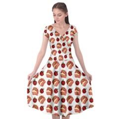 Pasta Pattern Cap Sleeve Wrap Front Dress by snowwhitegirl