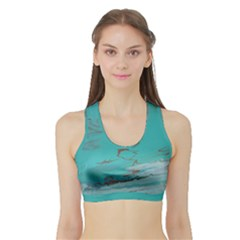 Copper Pond Sports Bra With Border