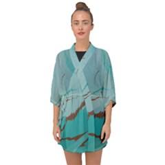 Copper Pond 2 Half Sleeve Chiffon Kimono by WILLBIRDWELL