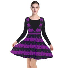 Zombie Purple And Black Halloween Nightmare Stripes  Other Dresses by PodArtist