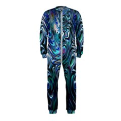 Blue Fractal Swirl Onepiece Jumpsuit (kids) by bloomingvinedesign