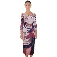 19 Quarter Sleeve Midi Bodycon Dress by miuni