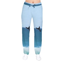 Whales Tail Velvet Drawstring Pants