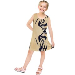 Peach And Black Swirl Design By Flipstylez Designs Kids  Tunic Dress