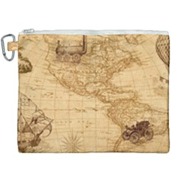 Map Discovery America Ship Train Canvas Cosmetic Bag (xxxl) by Samandel