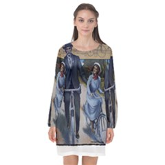 Bicycle 1763283 1280 Long Sleeve Chiffon Shift Dress  by vintage2030