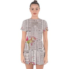 Background 1770129 1920 Drop Hem Mini Chiffon Dress by vintage2030