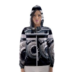 Photo Camera Hooded Windbreaker (women) by vintage2030
